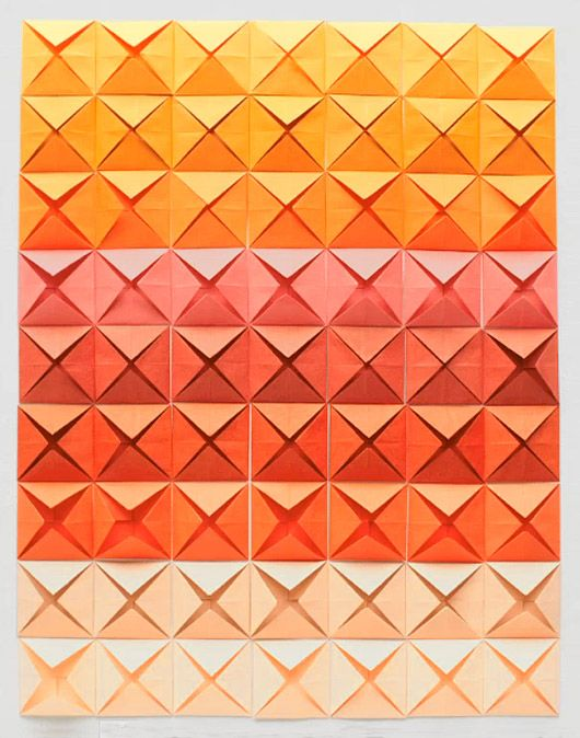 a sunset palette. step 3 (origami by erin jang)