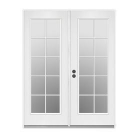 ReliaBilt 59 5 In 10 Lite Glass Primer White Steel French Inswing Patio Door