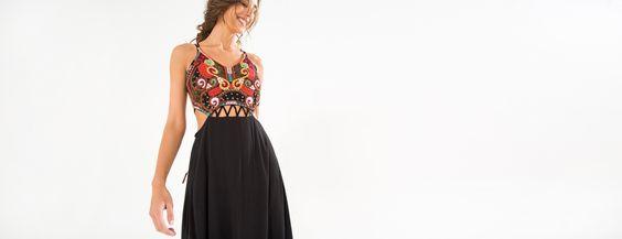 vestido bordado cangaço | FARM
