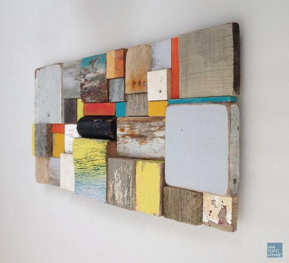 Panneau patchwork en bois échoué personnalisable - Ma toponymie