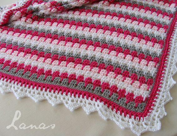 Larksfoot Blanket - Pattern, Chart & Video: http://www ...