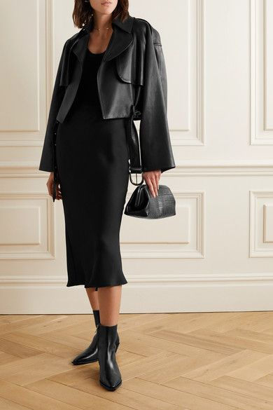 Anine Bing | Bar silk-satin midi skirt | NET-A-PORTER.COM