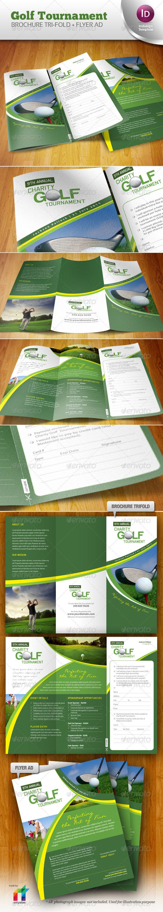 golf tournament brochure template - brochures flyers and golf on pinterest