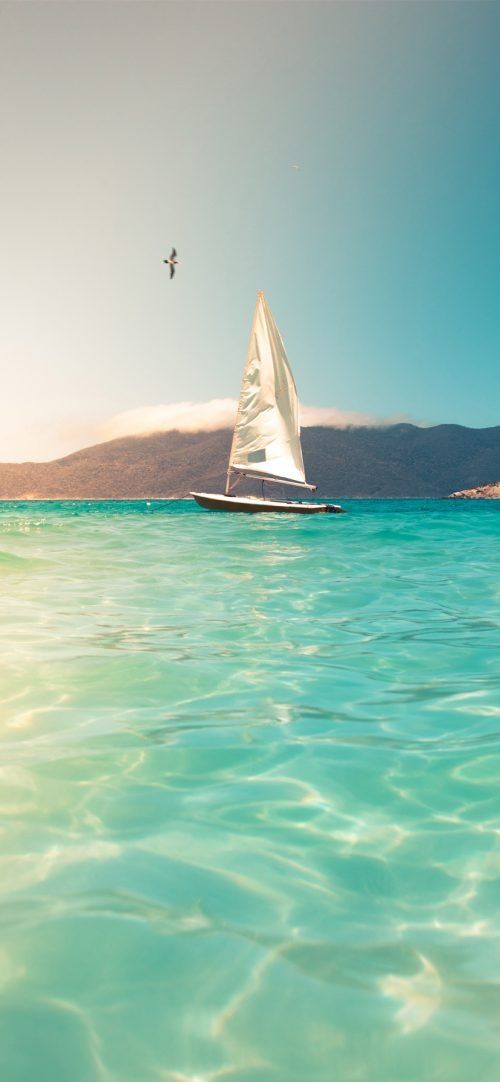 Beach Wallpaper For Iphone 04 Photo Of Sailing Boat In 2020 Beach Wallpaper Beach Wallpaper Iphone Iphone Wallpaper