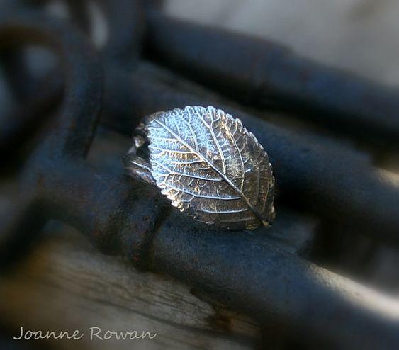 Bramblewood Ring...Rose Leaf and Twining Vine Ring by joannerowan