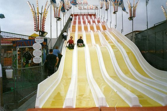 Big slide at the fairground