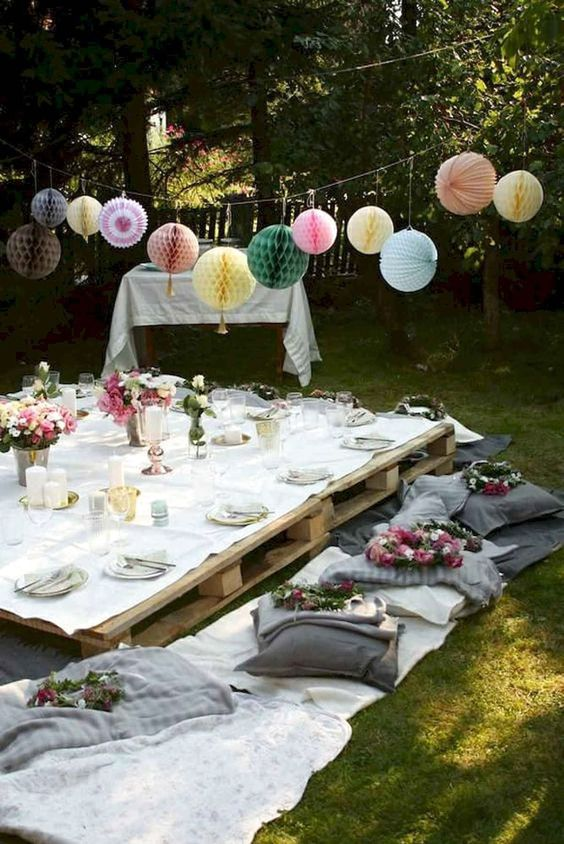 65 Best Outdoor Summer Party Decorations Ideas