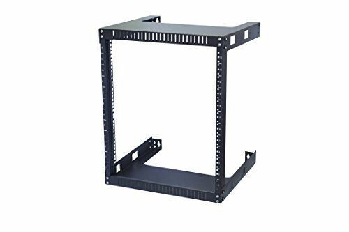 Kenuco 12u Wall Mount Open Frame Steel Network Equipment Rack 17 75 Inch Deep Open Frame Glass Door Lock Frames On Wall