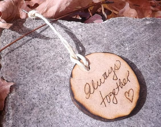 Circle Shaped Rustic  Wood  Wedding Favors by BVDesignsonline, $29.99