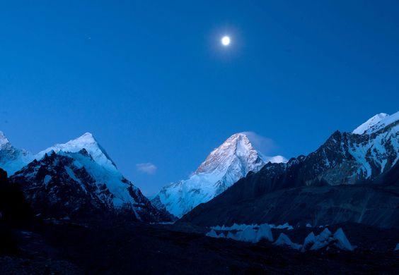Mt. Everest at night
