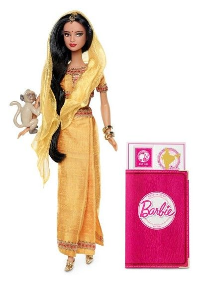 Dolls of the World 2012  INDIA  BARBIE® DOLLS OF THE WORLD® India BARBIE® Doll: In 2012, the Dolls of the World® line is all about inspiring girls to travel the world through Barbie®. Barbie® doll is loved around the world, and this collection returns the love with Barbie® dressed in aspirational versions of ancestral dress from various countries.  $34.99  http://www.angelicdreamz.com/2012-Barbie-Dolls-of-the-World-India-Pre-Order-Item-July-Delivery_p_11055.html