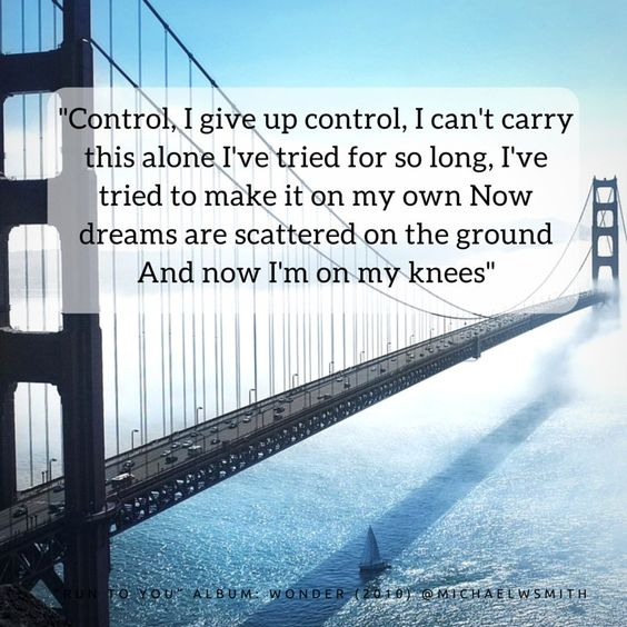 """""""Control, I give up control. I can't carry this alone I've tried for so long, I can't make it on my own."""" ~Michael W. Smith  On our knees: Where we all need to be. #surrenderisbeautiful"""