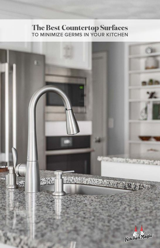 The Best Countertop Surfaces To Minimize Germs In Your Kitchen In 2020 Solid Surface Countertops Kitchen Countertop Surfaces Solid Surface Countertops