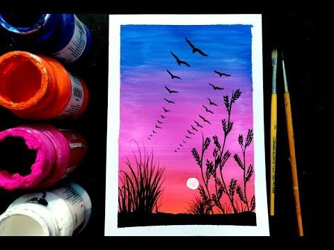 Easy Poster Colour Painting For Beginners Step By Step Tutorial
