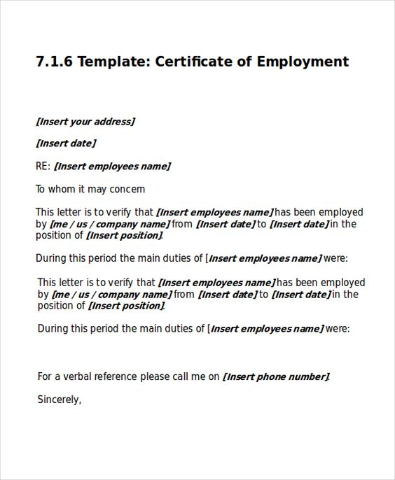 work certificate template free word excel pdf documents download - cover letter construction