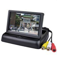 """4.3"""" Folding Rear View Car Color Monitor System w/2-Channel Video Input"""