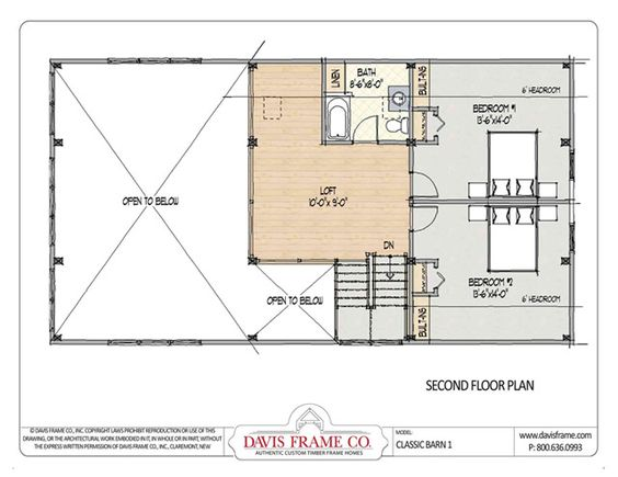 Barn House Plans With Loft Second Floor Plan