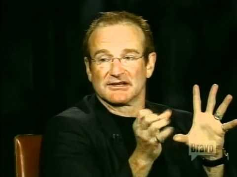 """Robin Williams on """"Inside the Actor's Studio."""" One of the funniest interviews i have ever seen! I saw this originally when it aired on TV and when I saw it was posted on youtube, I had to post it. It is worth the time commitment if you are a Robin Williams fan or if you want to see a genius at work."""