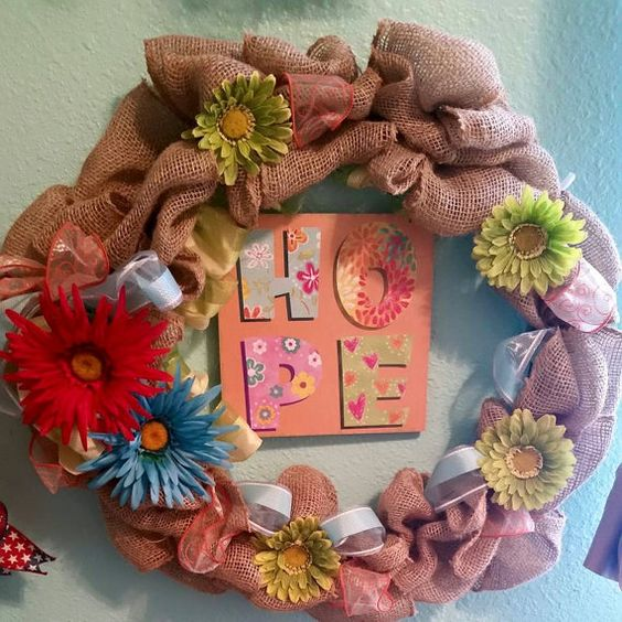 Hey, I found this really awesome Etsy listing at https://www.etsy.com/listing/236831352/burlap-hope-wreath
