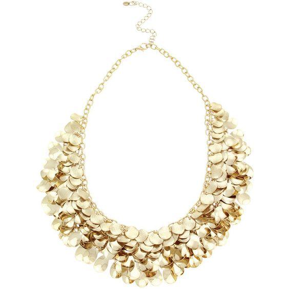 OASIS Gold Cluster Necklace ($42) via Polyvore