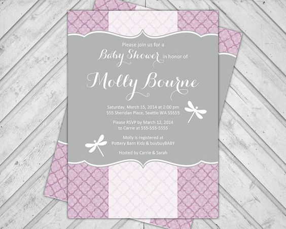 Pinterest the worlds catalog of ideas purple baby shower invitations dragonfly baby shower invite couples surprise gray filmwisefo Images