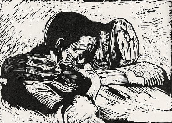 Käthe Kollwitz, 1919, woodcut: