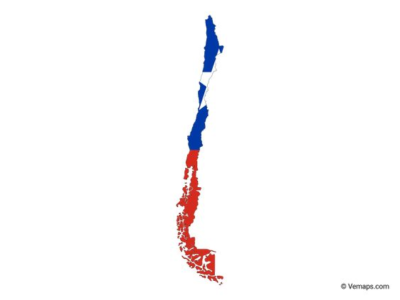 Flag Map Of Chile Free Vector Maps Map Vector Chile Flag Map