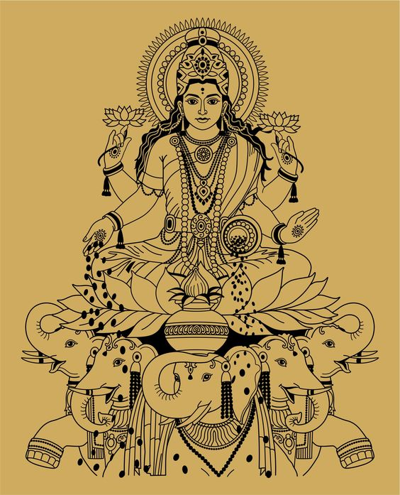 Lakshmi, the Hindu goddess of wealth, prosperity, fortune and beauty.