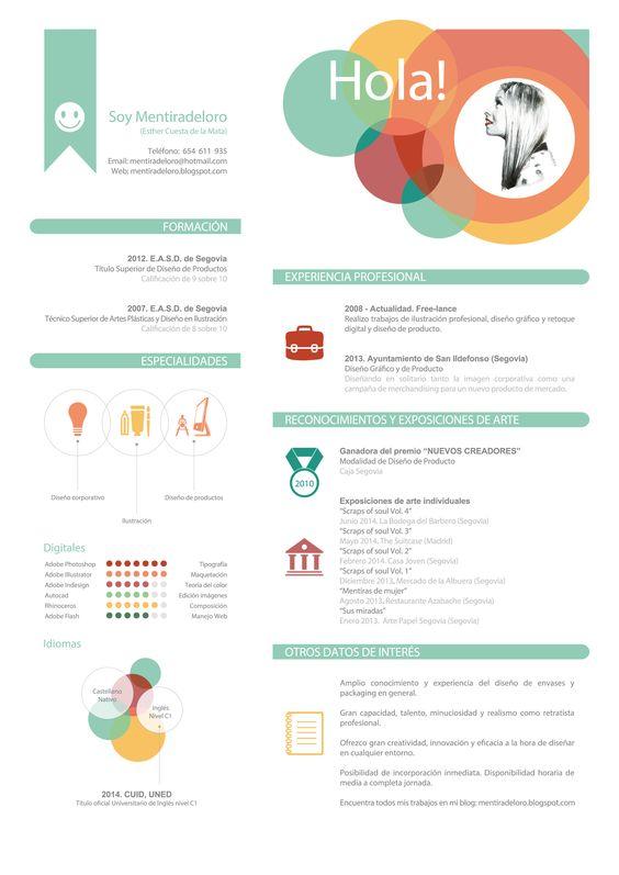 Ejemplo de Curriculum Creativo By Mentiradeloro