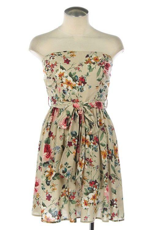 Floral print tube dress $41.93