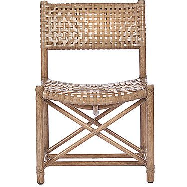 mcguire furniture antalyatm laced rawhide armless chair lm 44 mcguire furniture company la 14 jolie
