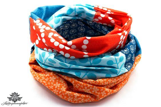 Bunter Loop-Schal aus der #Lieblingsmanufaktur: Farbenfrohe Loop Schals, Tücher und mehr