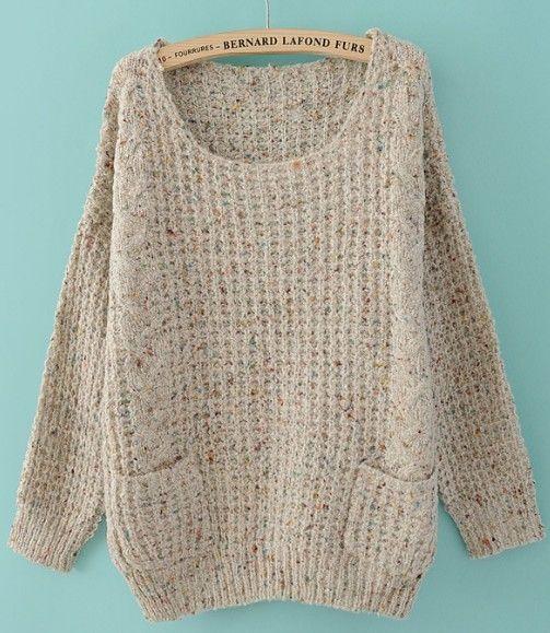 Grey Round Neck Sweater