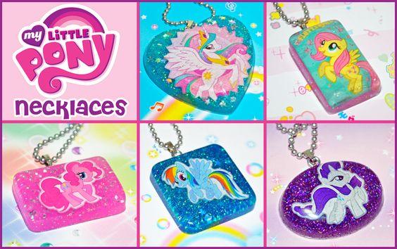 My Little Pony Necklaces by bapity88.deviantart.com on @deviantART