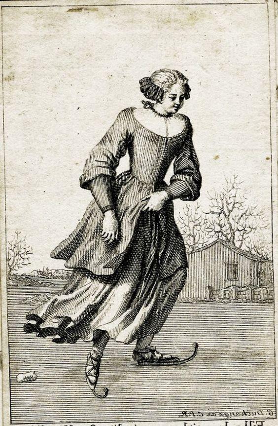 Fille de petit bourgeois d'Amsterdam... Bernard Picart (French engraver, 1673-1733) Ice Skater: