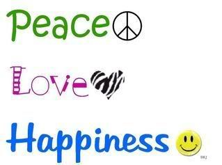 Image detail for -Peace love and happiness coloring pages