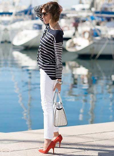 2015年春夏働く上品レディーの白パンツ着こなし術!|マシマロ