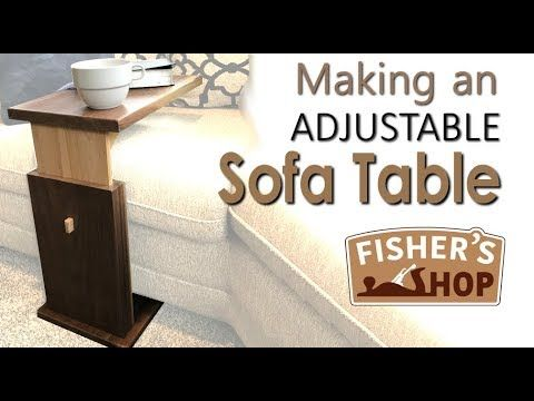 Woodworking Making An Adjustable Sofa Table Youtube Diy Sofa Table Sofa Table Diy Table