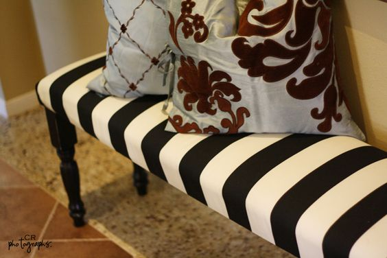 diy bench in 2hrs - built from scratch, not just reupholstered: