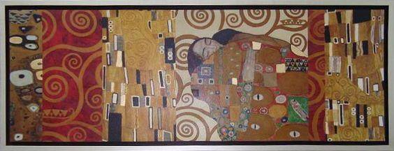 Lit. El Abrazo Collage (G. Klimt) - Gustav Klimt