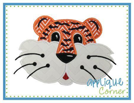 tiger face applique design - Google Search