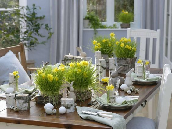 Znalezione Obrazy Dla Zapytania Dekoracje W Sloikach Easter Table Settings Easter Table Easter Tablescapes