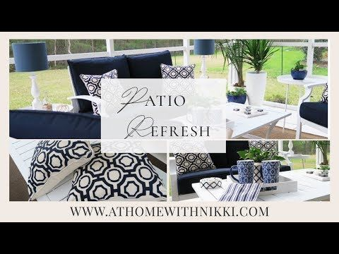 Small Space Decorating Patio Refresh Youtube In 2020 Cheap