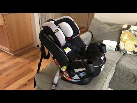 How To Install Graco 4ever All In One Convertible Car Seat Forward Rear Facing Tutorial Youtube Car Seats Convertible Car Seat Baby Car Seats