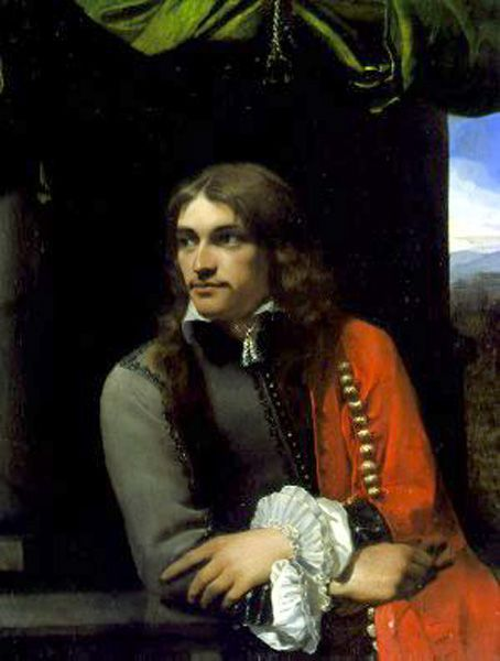 Michael Sweerts - Portrait of a Young Man with a Red Cloak 1650, oil painting on copper, Wallace Collection: