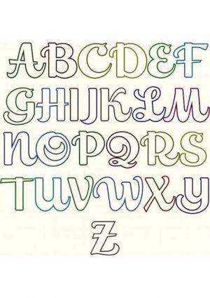 Moldes De Letras Cursivas Para Imprimir Abecedario En Letra Grande Lettering Alphabet Lettering Tutorial Lettering Alphabet Fonts