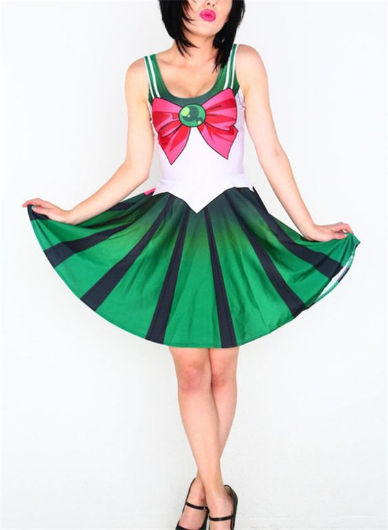 Women Summer Dress for Women 2014 Vestidos Casual Woman Costume 10 Color Sailor Moon Style Cosplay Costume Fashion