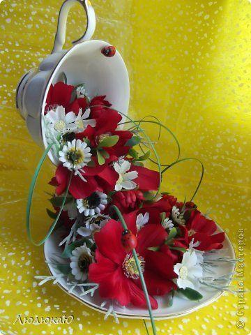 Поделки на 8 марта из цветов канзаши