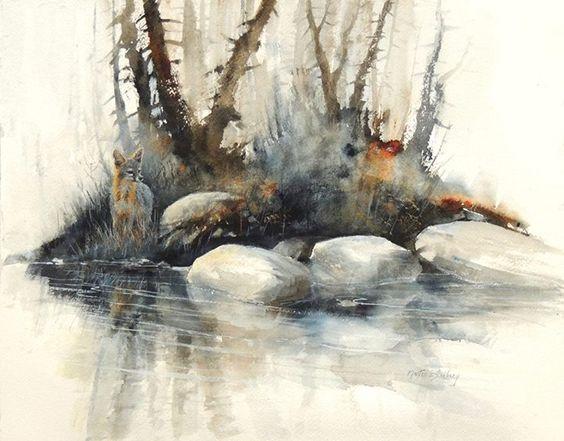 Morten E Solberg Sr., Watercolor