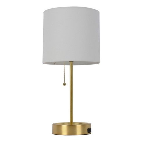 Table Lamp White Shade With Brass Base Room Essentials Target White Table Lamp Brass Table Lamps Lamp